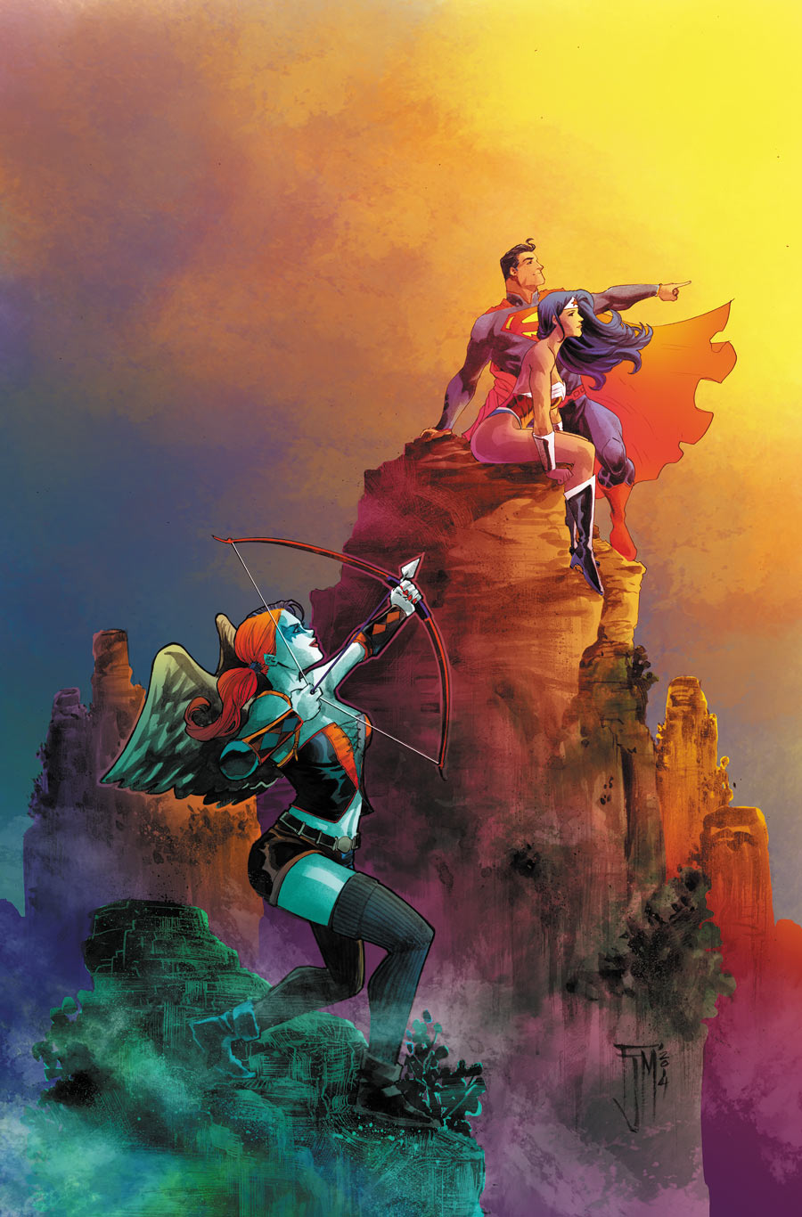 Superman Wonder Woman Vol 1 16 Textless Harley Quinn Variant.jpg