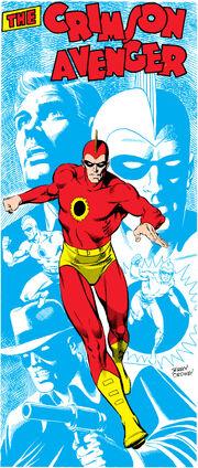 The Crimson Avenger running