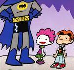 Batman confronts Duela Dent and Archie Andrews