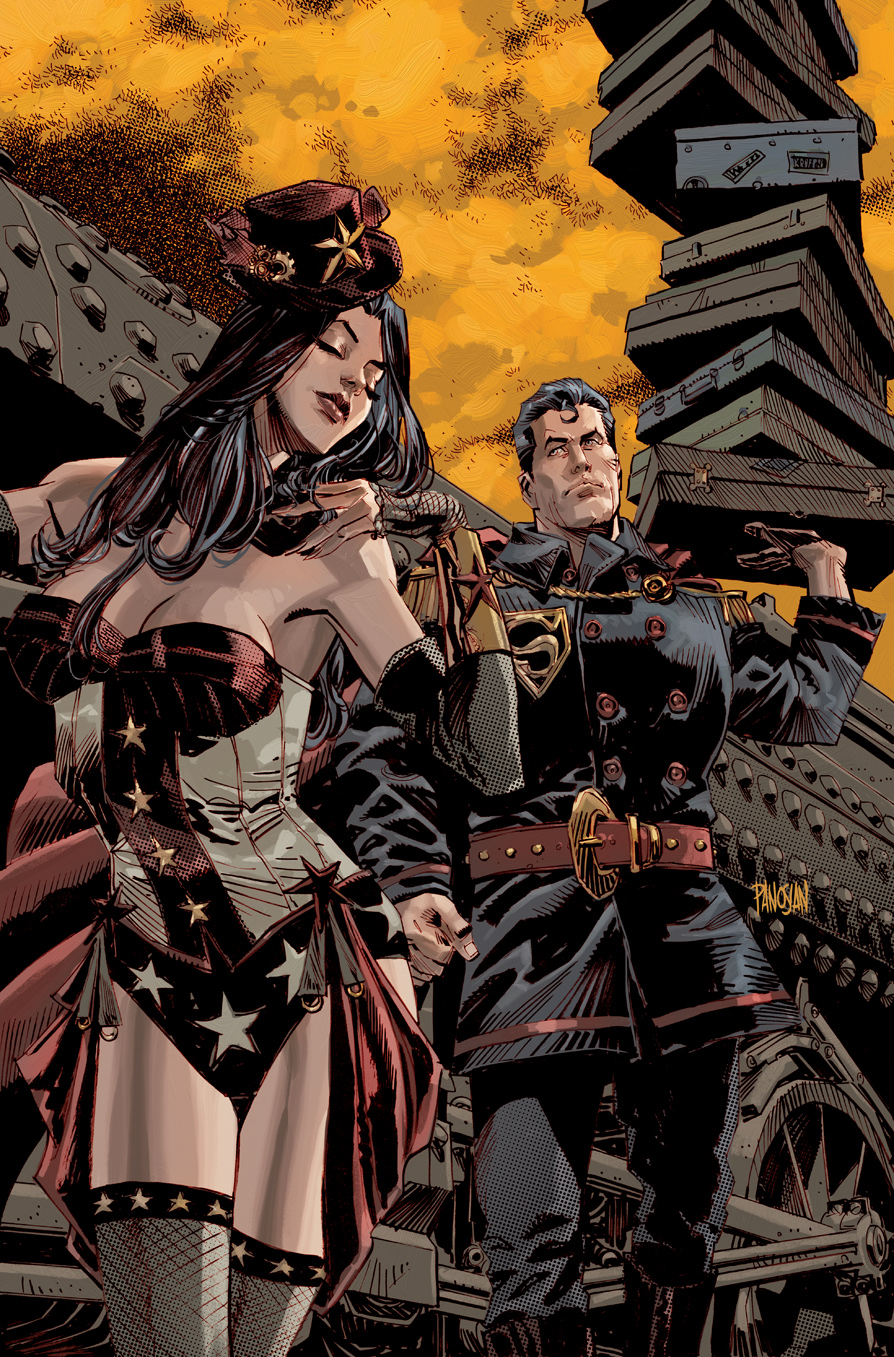 Superman Wonder Woman Vol 1 5 Textless Steampunk Variant.jpg