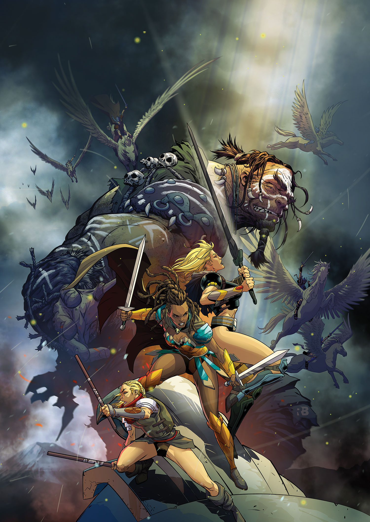 The Odyssey of the Amazons Vol 1 1 Textless.jpg