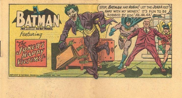 Batman Kellogg's Pop-Tarts Comics