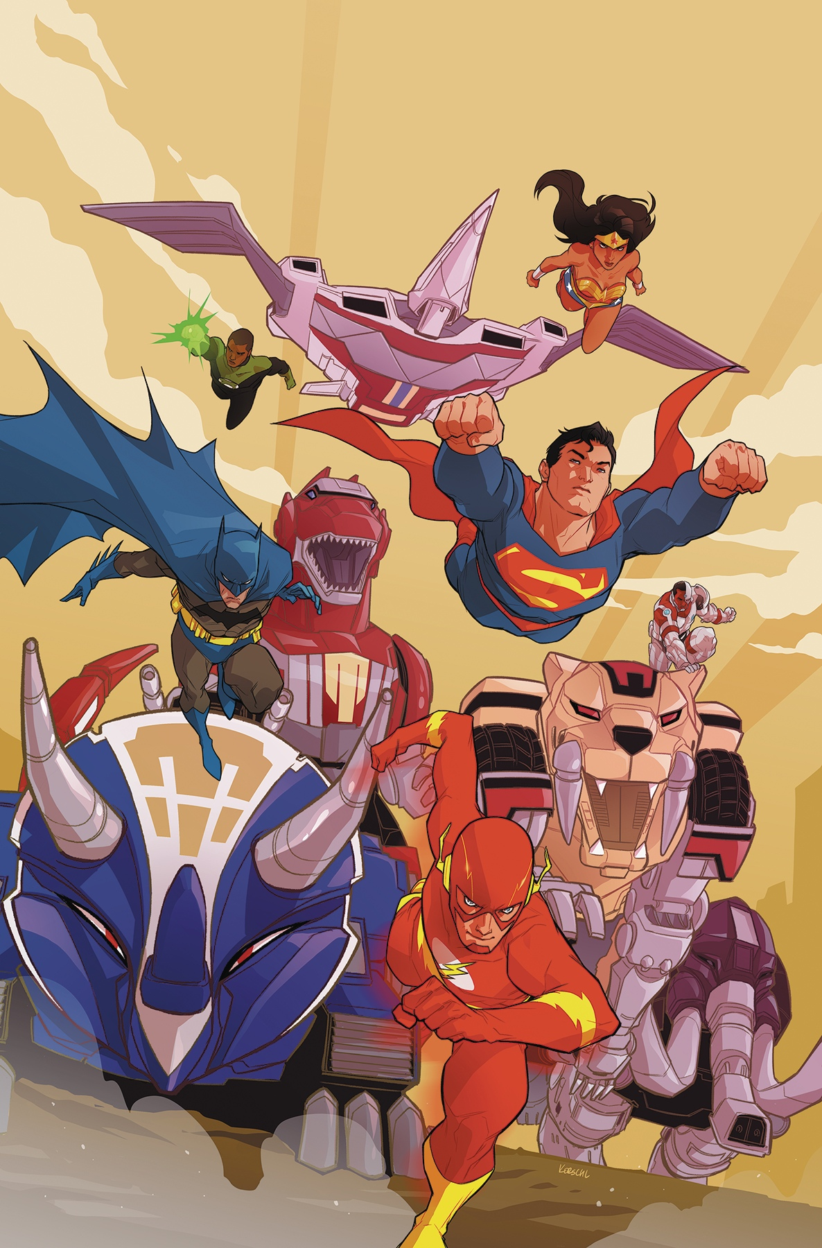 Justice League Power Rangers Vol 1 6 Textless.jpg