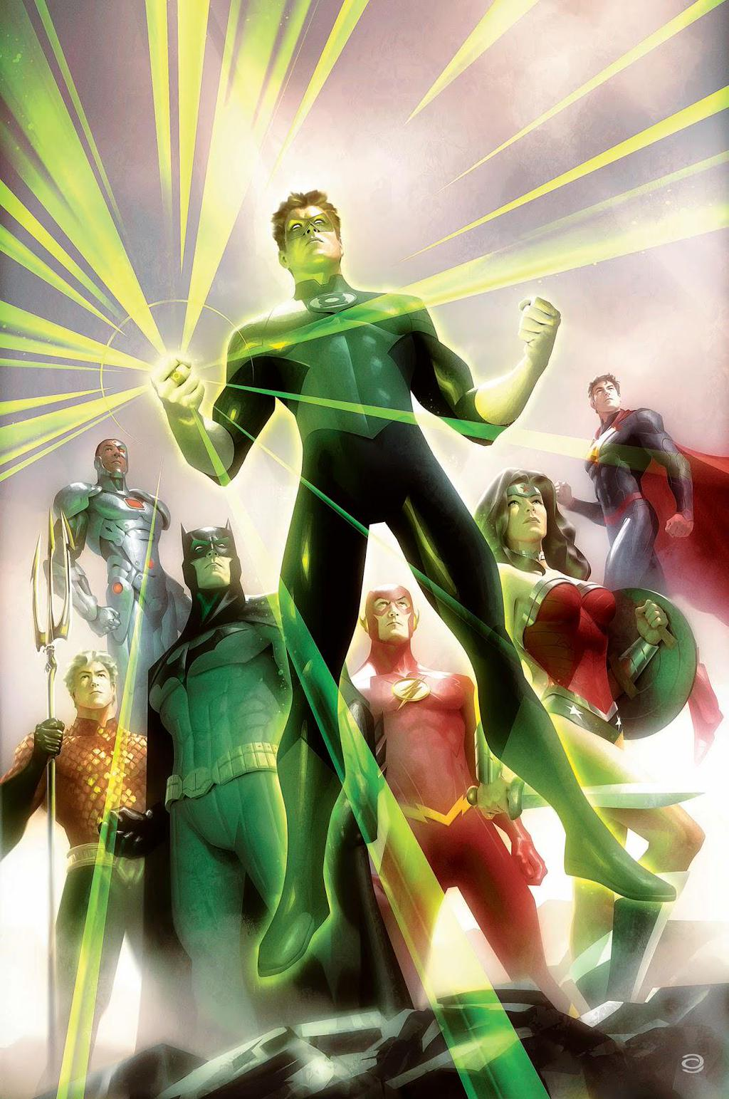 Justice League of America Vol 4 4 Textless Green Lantern 75th Anniversary Variant.jpg
