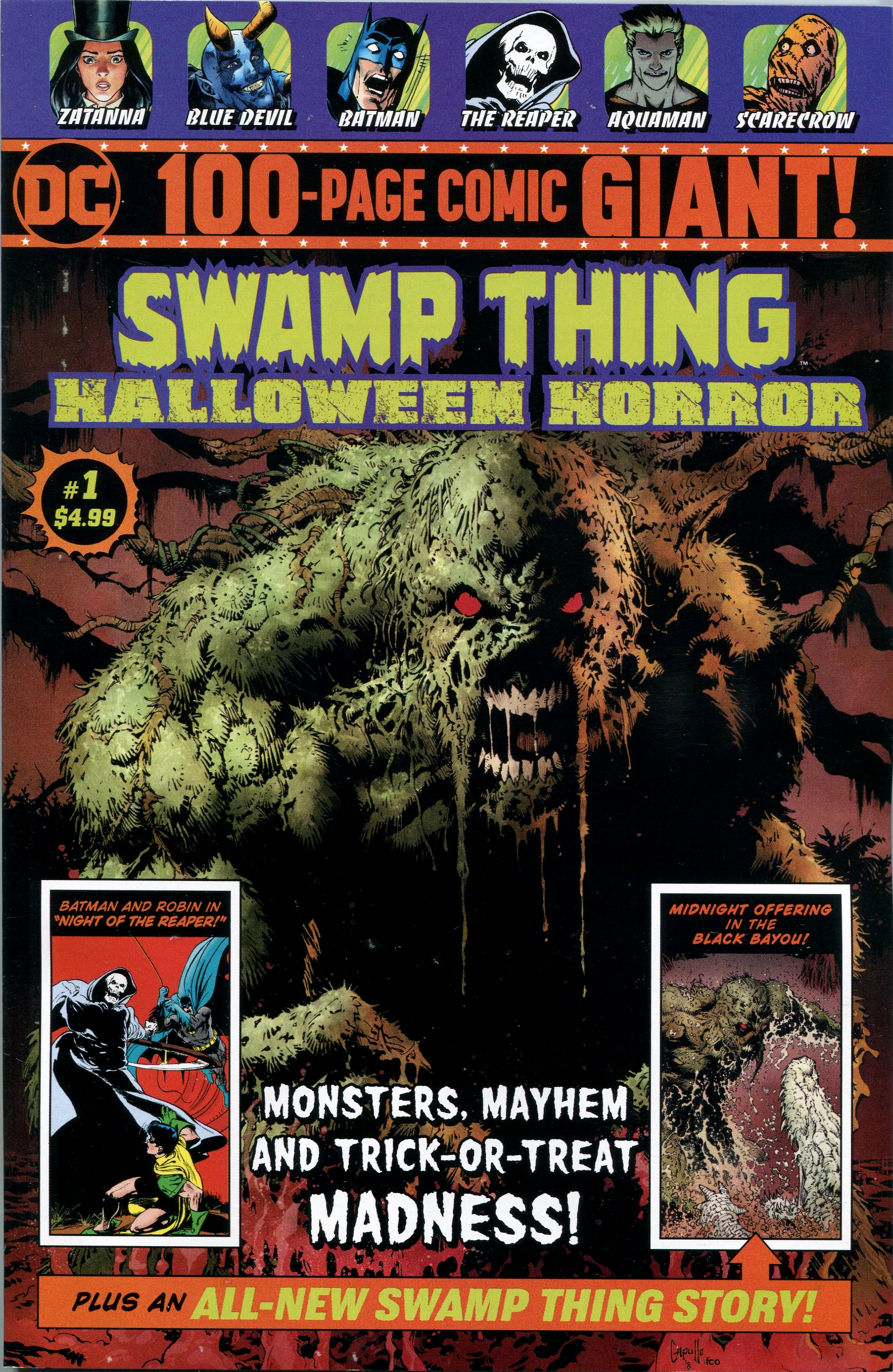 Swamp Thing Halloween Horror Giant Vol 1 1