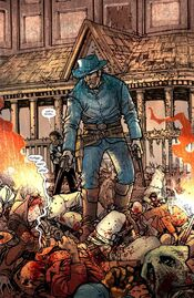 Jonah Hex demonstrates his ability to kill everyone.