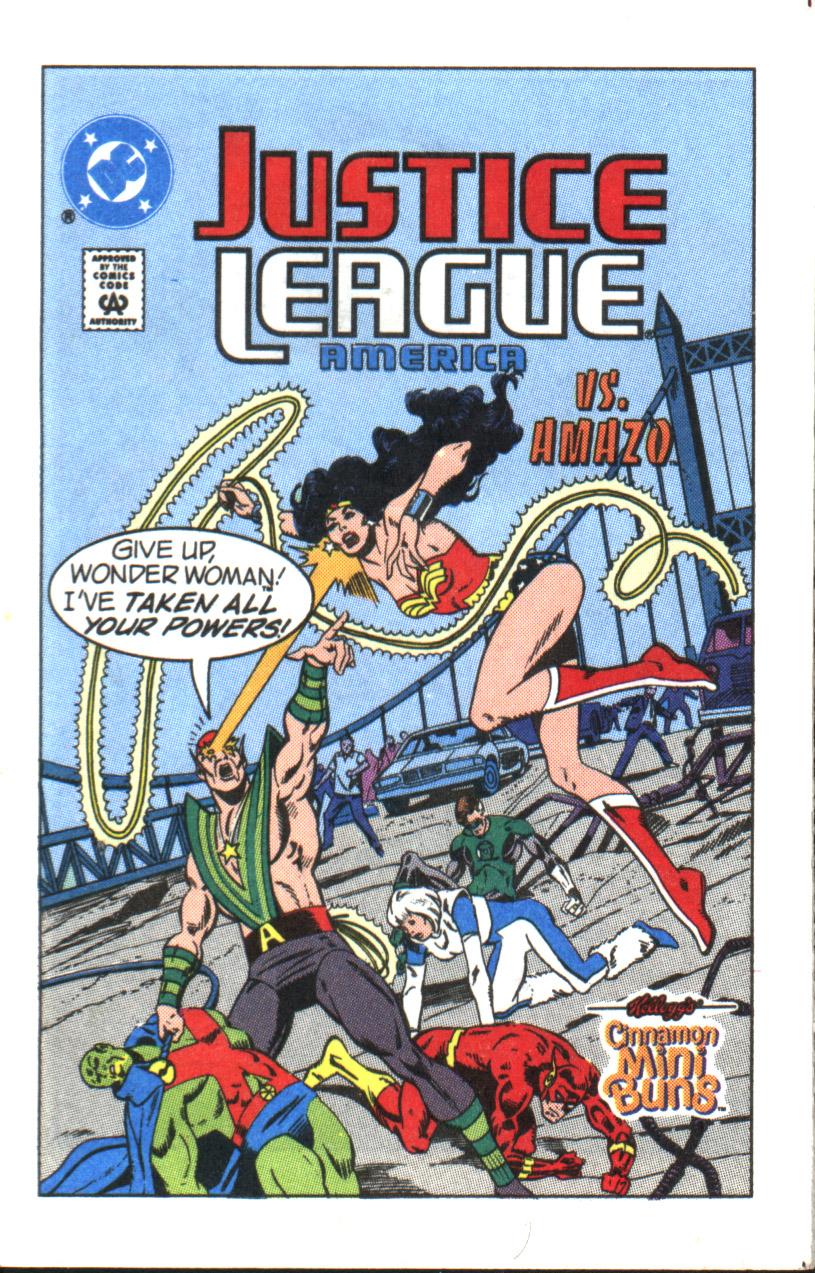 Justice League America vs. Amazo