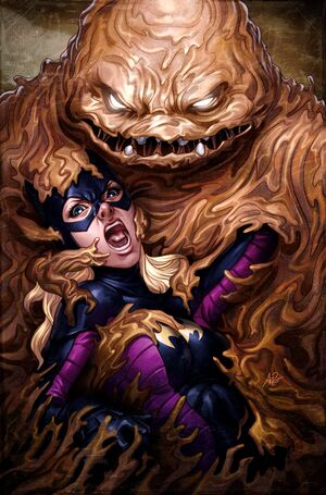 Clayface captures Stephanie Brown as Batgirl