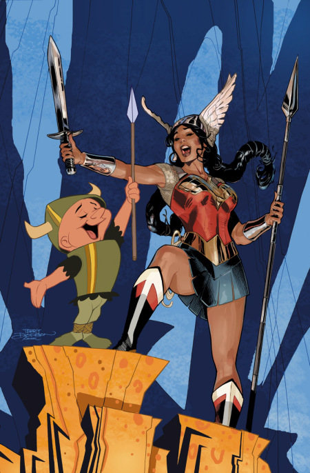 Wonder Woman Vol 4 46 Textless Looney Tunes Variant.jpg