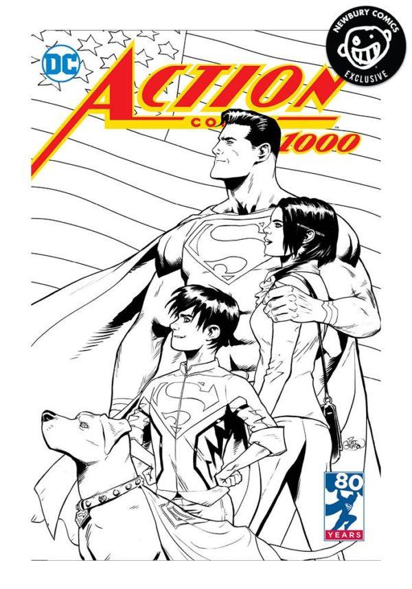 Action Comics Vol 1 1000 Newbury Comics B&W.jpg