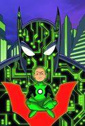 Batman Beyond Vol 5 4 Textless Green Lantern 75th Anniversary Variant