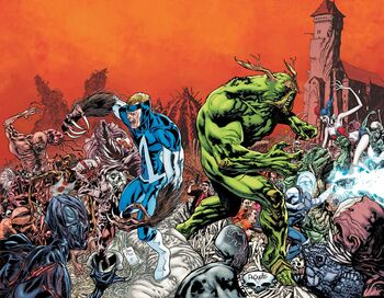 """Animal Man and Swamp Thing #17 <!--LINK'"""" 0:1--> Spread"""