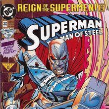 Superman - Man of Steel 22 Newstand edition.JPG