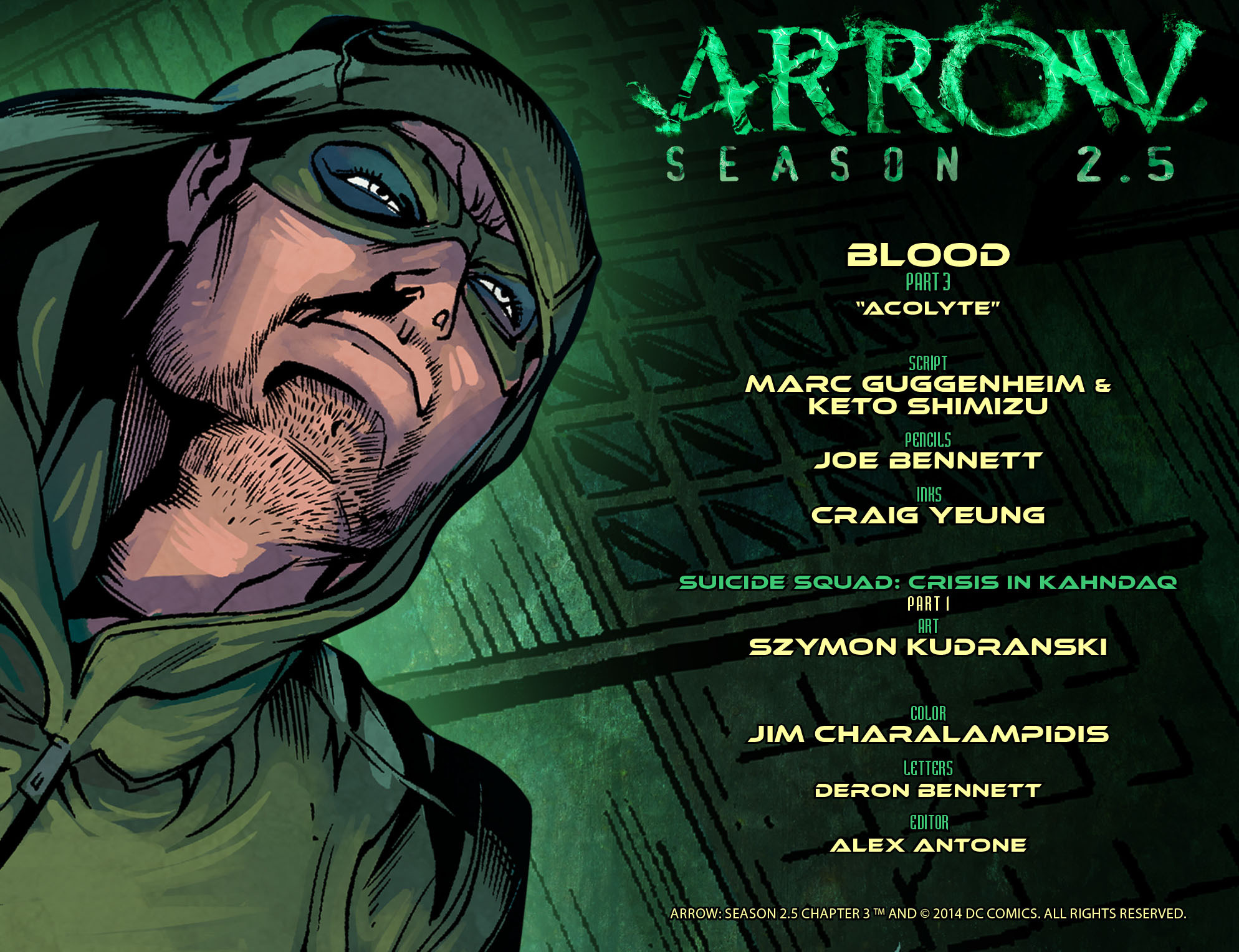 Arrow: Season 2.5 Vol 1 3 (Digital)