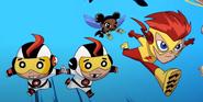 Mas y Menos Bumblebee Kid Flash New Teen Titans Shorts 001