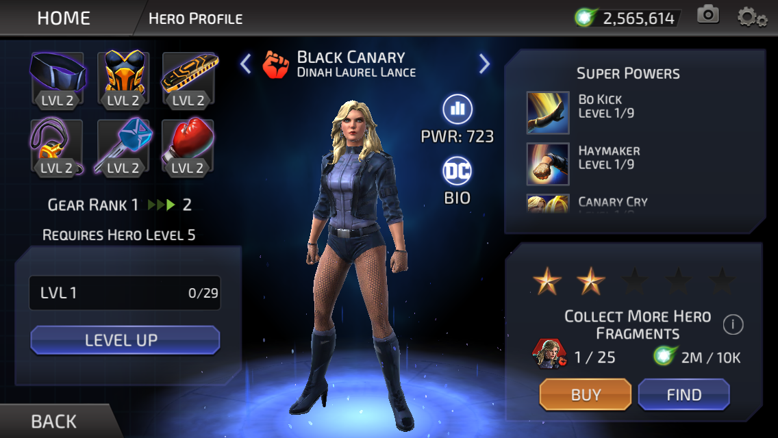 Dinah Laurel Lance (DC Legends)