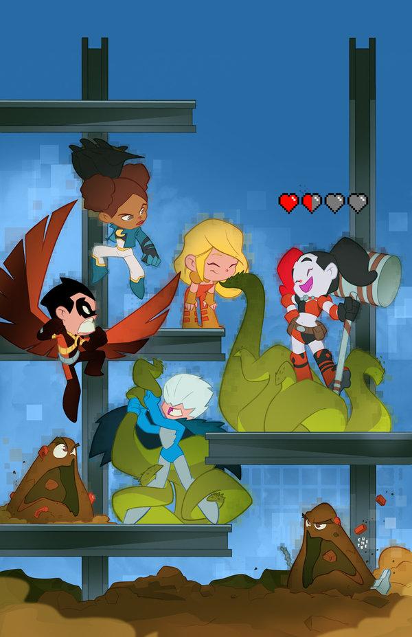 Teen Titans Vol 5 7 Textless Harley Quinn Variant.jpg