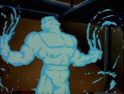Hydro-Man forming for the Fantastic Four