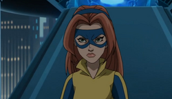 Jean Grey during her first battle against Magneto.