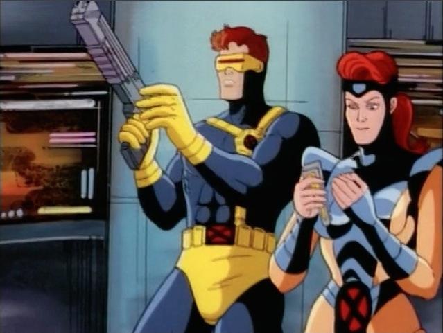 Cyclops Examines Gun.jpg