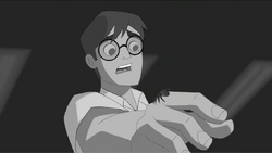 Peter being bitten by the radioactive spider