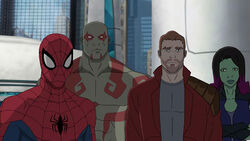 Spider-Man in Guardians of the Galaxy: Mission Breakout!.