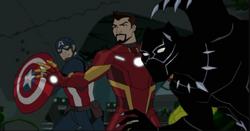 Captain America, Iron Man & Black Panther (Radomski Universe).PNG