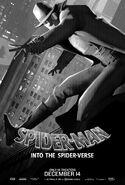 Spider-Man Into the Spider-Verse Noir Poster