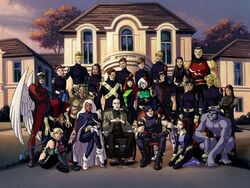 The entire X-Men roster