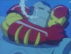 Iron Man attacks War Machine