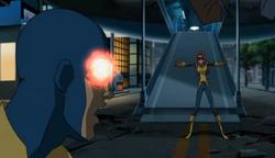 Jean suppresses Scott's powers.