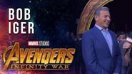 Disney Chairman and CEO Bob Iger Live at the Avengers Infinity War Premiere