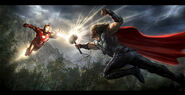 Andyparkart-the-avengers-Iron-Man-v-Thor