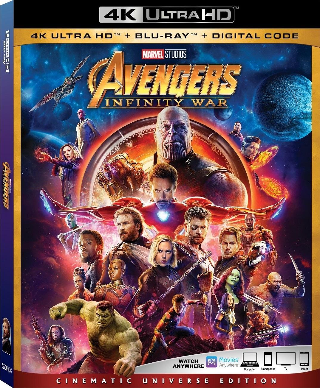 Мстители: Война бесконечности/Релиз на физических носителях