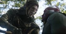 Corvus y Visión en Wakanda