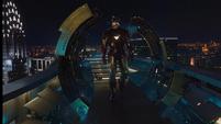 Stark llegando a su torre
