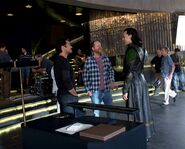 Downey and Loki Behind the Scenes