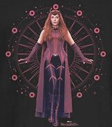 Wanda in Scarlet Witch Costume Promotional Concept Art 04