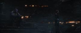 Gamora dando la espalda a Thanos
