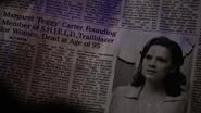Muerte de Carter en un periódico