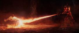 Thor en una lucha contra Surtur
