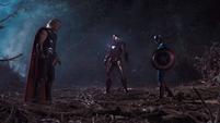 Thor Iron Man y Capitan America