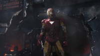 Iron Man durante un ataque al Helicarrier