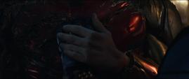 La armadura de Stark se apaga