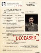 Howard Stark SHIELD File