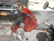 The Avengers Behind the Scenes photos 8