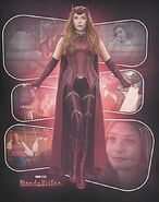 Wanda in Scarlet Witch Costume Promotional Concept Art 03