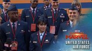 The United States Air Force joins the Captain Marvel Red Carpet Premiere