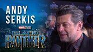 Andy Serkis at Marvel Studios' Black Panther World Premiere Red Carpet