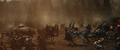 Hogun en su caballo durante la Batalla de Vanaheim